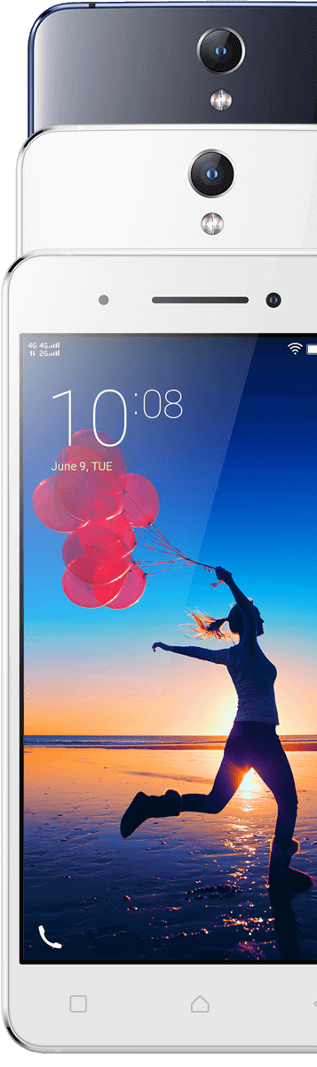 Lenovo Smartphone Vibe S1 Front and Back Feature