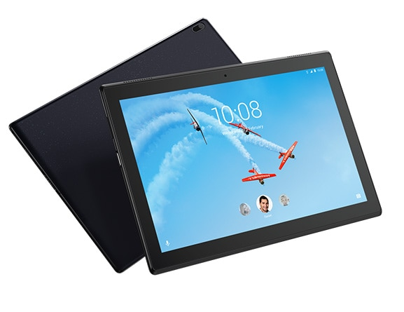 Lenovo Tab 4 10 Tilted Front and Rear View