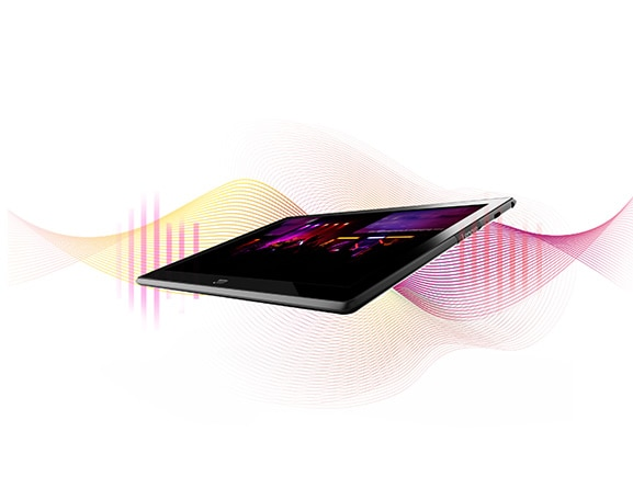 Lenovo Tab 4 10 Plus with sound waves