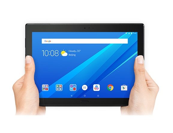 Lenovo Tab 4 10 Plus Held in Hands