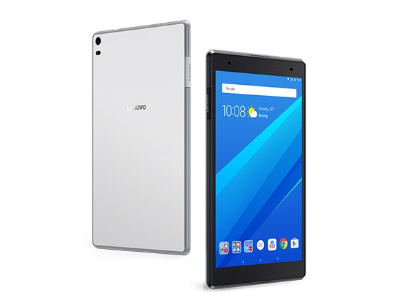 Lenovo Tab 4 8 Plus front and back views