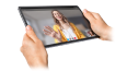 Thumbnail image of two hands holding Lenovo Tab P11 Pro tablet in left three-quarter view