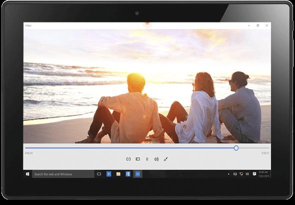 Miix 310 features an optional FHD display.