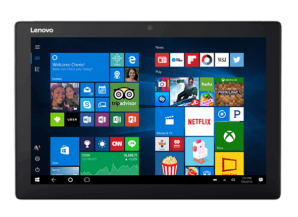 Lenovo Miix 510 display featuring Windows 10