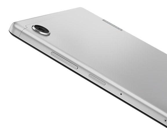 Lenovo Tab M10 HD (2nd Gen) tablet, back left angle view