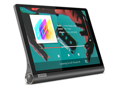 Lenovo Yoga Smart Tab with the Google Assistant, front angle view