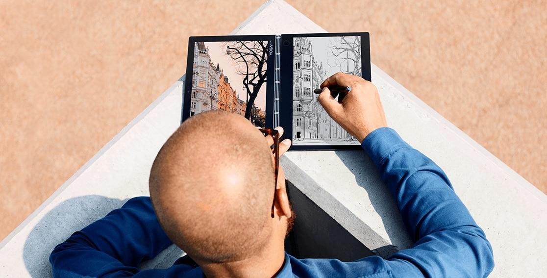 Lenovo Yoga Book C930, sketching demonstrated