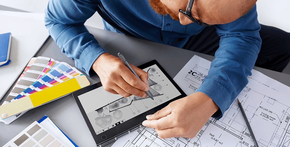 Lenovo Yoga Book C930, drawing demonstrated