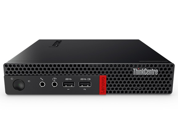 Lenovo ThinkCentre M910x Tiny horizontally positioned, front view
