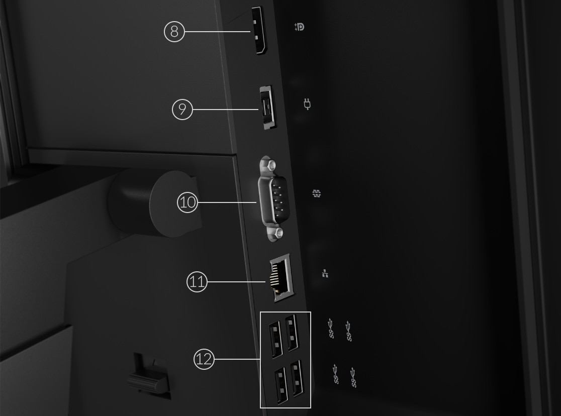 Lenovo ThinkCentre M70a rear ports