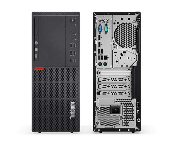 Lenovo M710 Tower front and back views