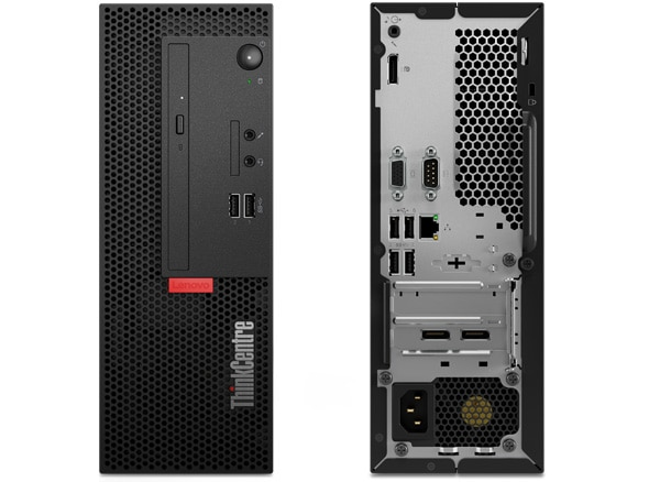 Lenovo ThinkCentre M710e SFF front and back view