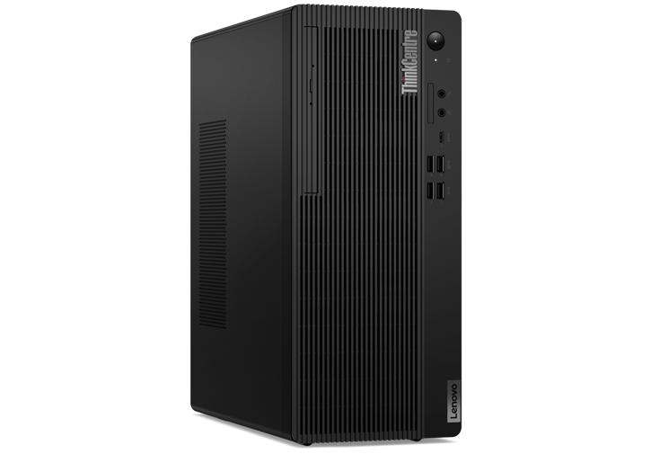 Lenovo ThinkCentre M80t desktop angled view of front view