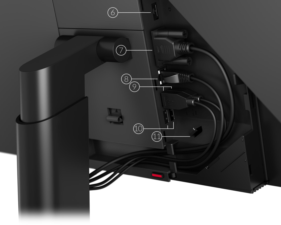 Lenovo ThinkCentre M90a AIO rear ports