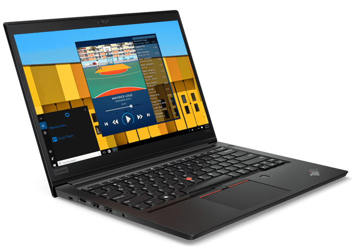 Lenovo ThinkPad E490s front left side view