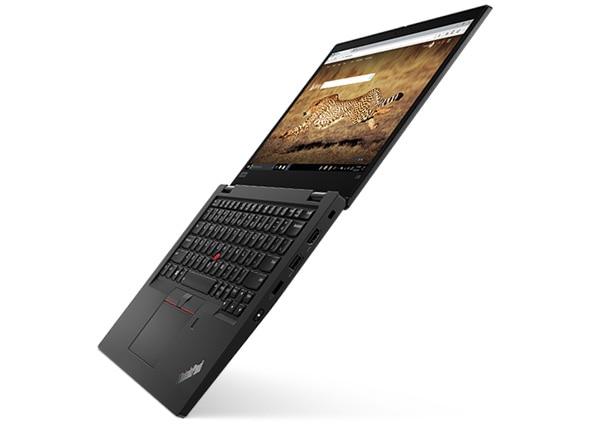 Lenovo ThinkPad L13 laptop open 180 degrees.