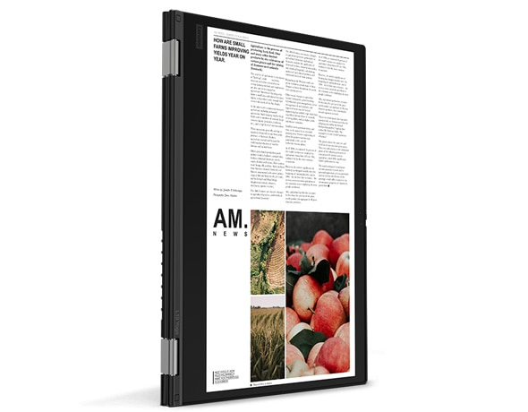 Lenovo ThinkPad L13 Yoga PC in Tablet Mode.