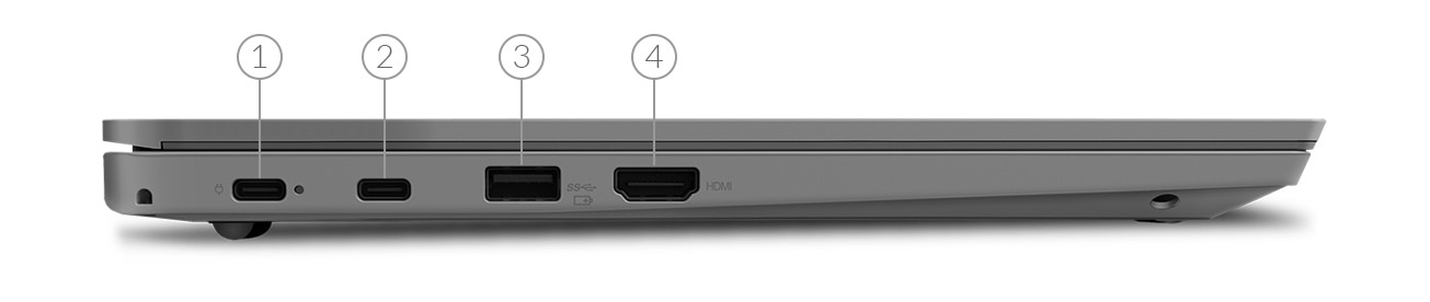 ThinkPad L390 back view showing ports