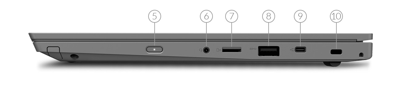 ThinkPad L390 side view showing ports