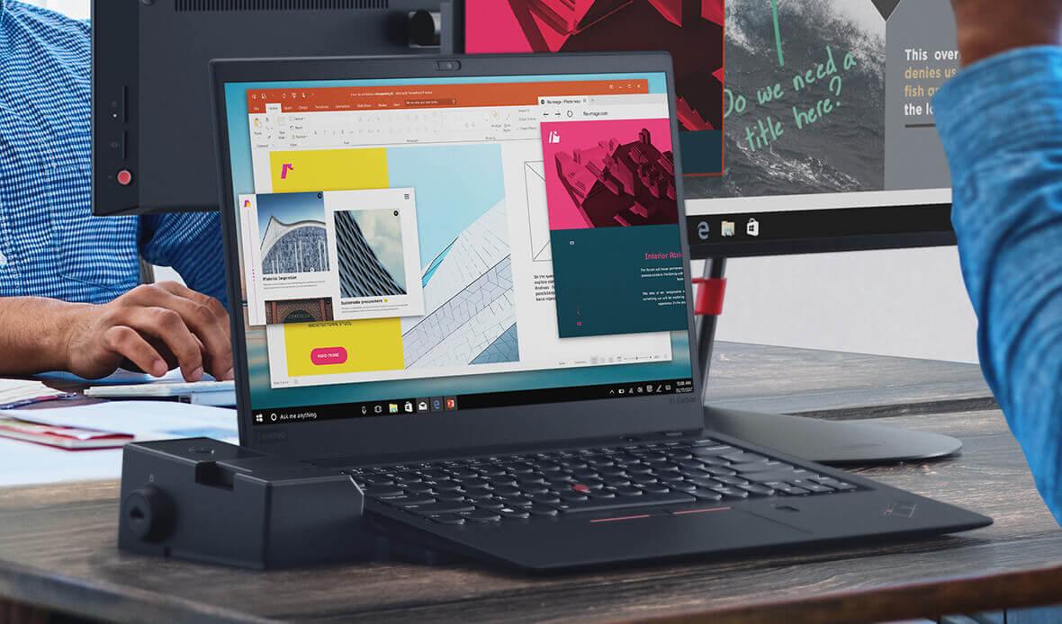 Lenovo ThinkPad X1 Carbon with dock