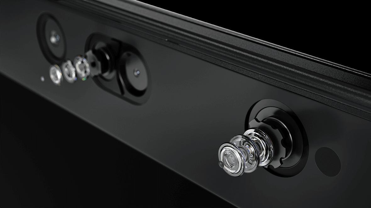 Detail of rear cameras on Lenovo ThinkPad X1 Tablet (3rd Gen).