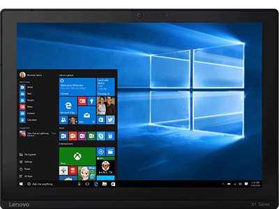 ThinkPad X1 Tablet With Windows 10 Pro.