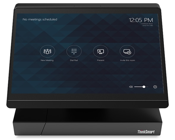 ThinkSmart Hub 500 Start-up Screen: Helps meetings to start sooner and run more smoothly
