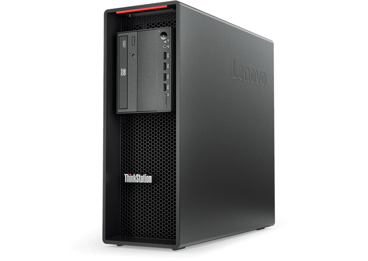 Lenovo ThinkStation P520 front left angle view