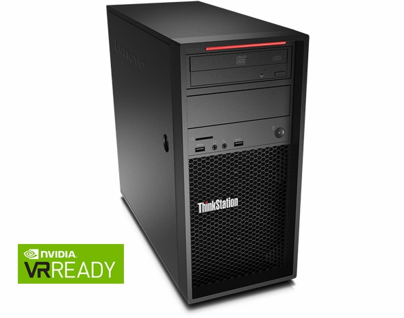 Lenovo ThinkStation P520c front right angle view with nvidia logo