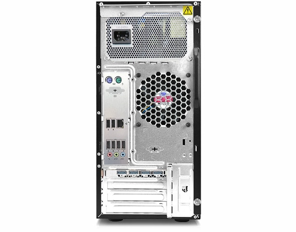Lenovo ThinkStation P520c rear panel view