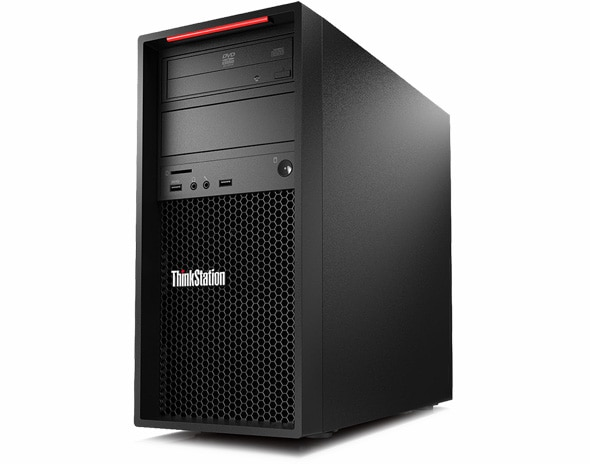 Lenovo ThinkStation P520c front left angle view
