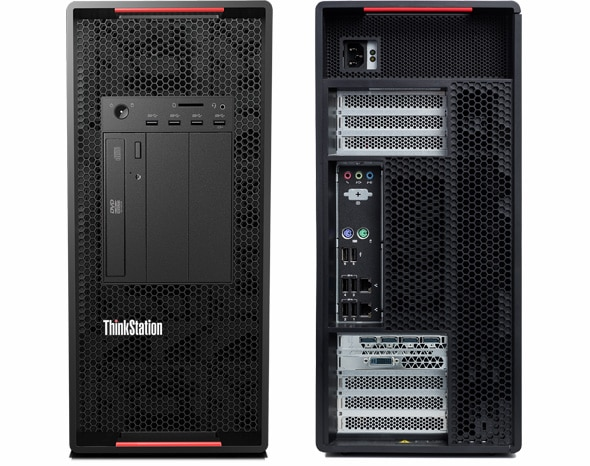 ThinkStation P920 front and back views