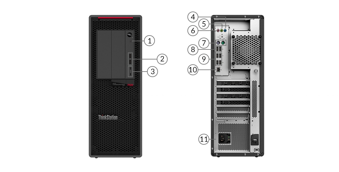 Lenovo ThinkStation P620 ports