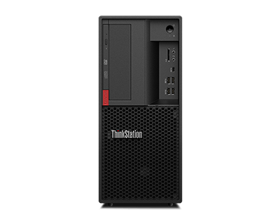Lenovo ThinkStation P330 Tower, front view.
