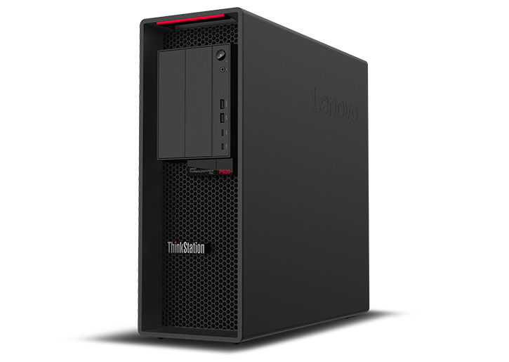 Lenovo ThinkStation P620 angled view