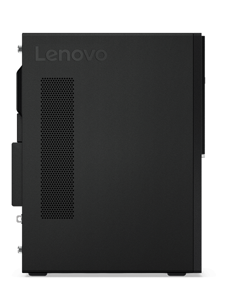 Lenovo V320 tower desktop side view, showing vents.