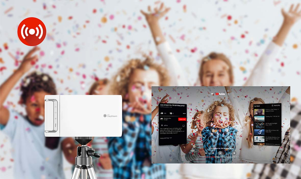 Lenovo Mirage Camera in action at a children's party