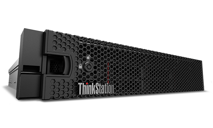 Gros plan avant du support Lenovo ThinkStation P920