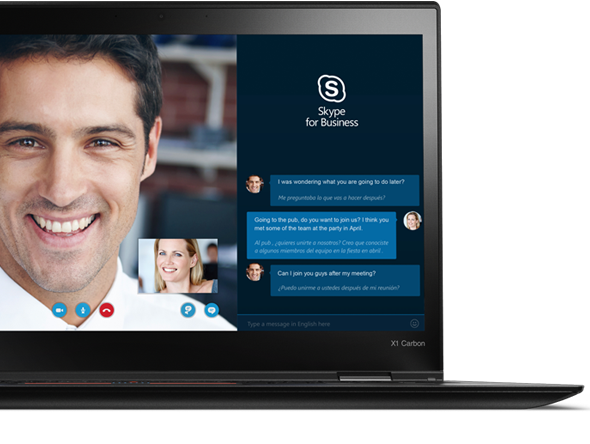 X1 Carbon Is Skype for Business Certified