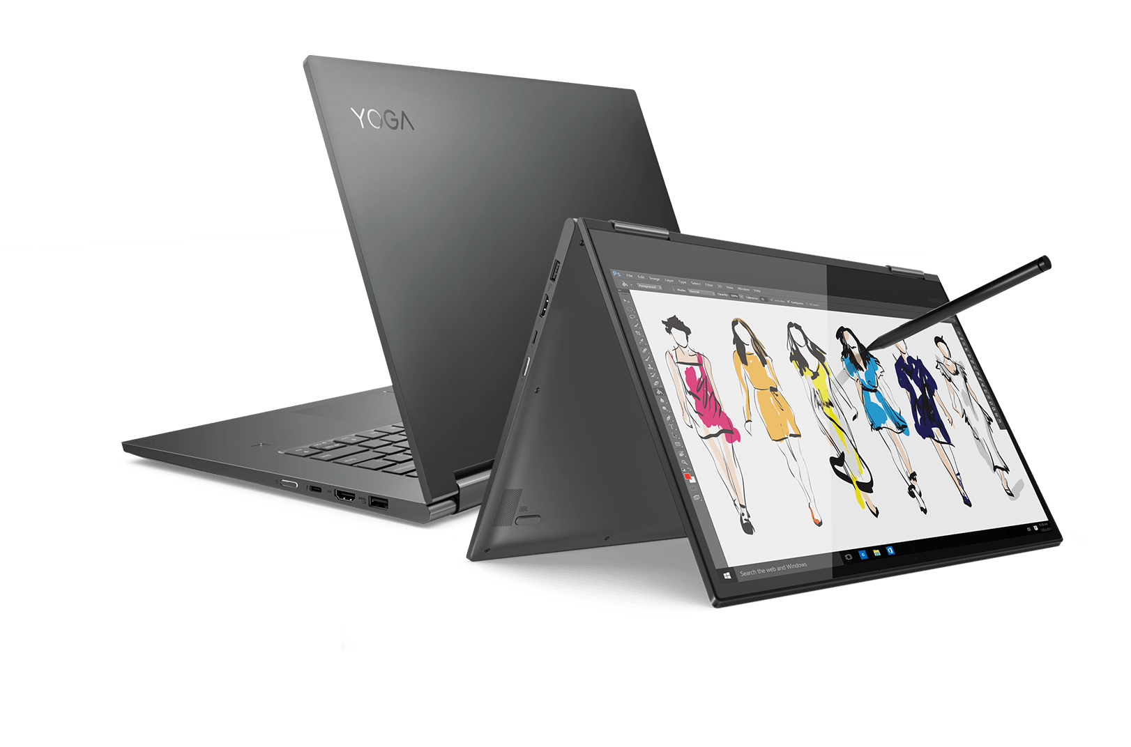 Lenovo Yoga 700 Series Laptop Front and Back Views