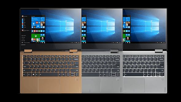 Lenovo Yoga 720 (13) in silver, grey, and copper