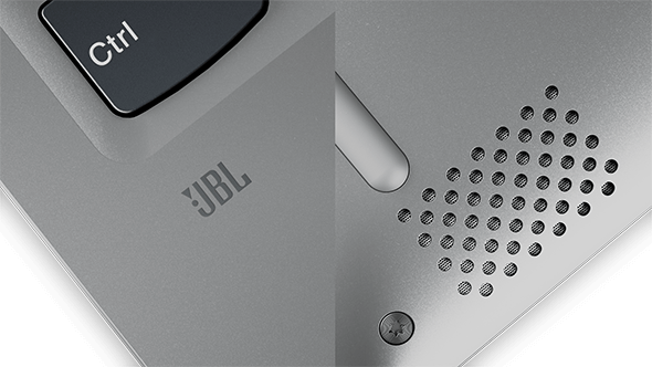 Lenovo Yoga 720 (13) JBL logo and speaker detail