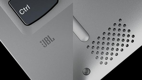 Lenovo Yoga 720 (13) JBL logo and speaker detail