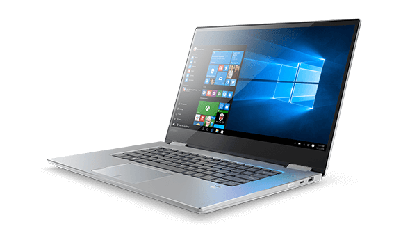 Lenovo Yoga 720 (15) front right side view featuring Windows 10