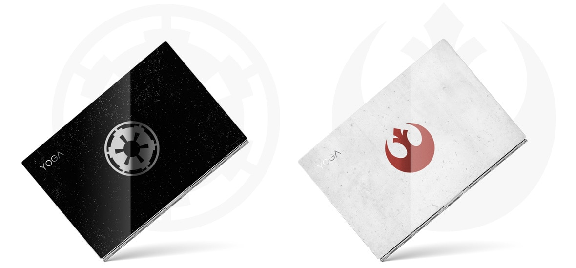 Lenovo Star Wars Special Edition Yoga 920 Rebel Alliance and Galactic Empire covers