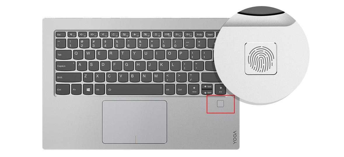 Lenovo Star Wars Special Edition Yoga 920 fingerprint reader
