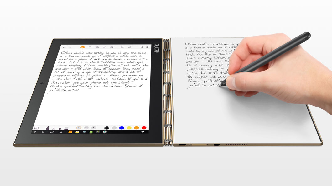Yoga Book The Ultimate 2 In 1 Productivity Tablet Lenovo Uk