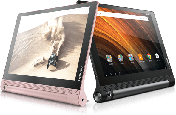 Yoga Tab 3 (10) in Rose Gold and Classic Black
