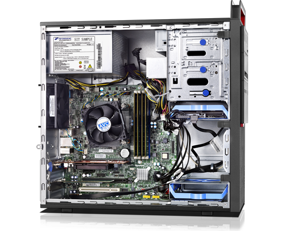 Lenovo ThinkCentre M800 Tower Desktop left side internal view