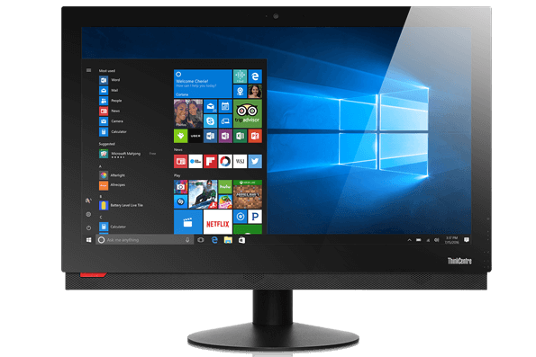 Lenovo ThinkCentre M900z AIO, front view